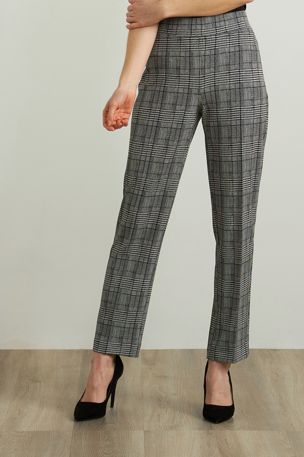 Joseph Ribkoff Plaid Straight Leg Pants Style 213626