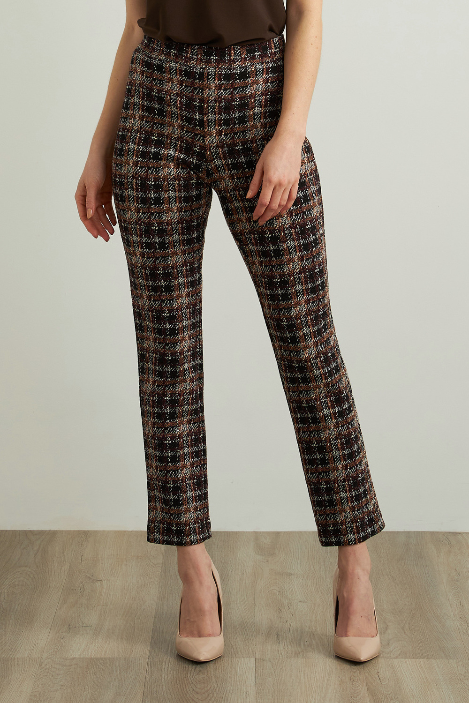 Joseph Ribkoff Black/Multi Pants Style 213628