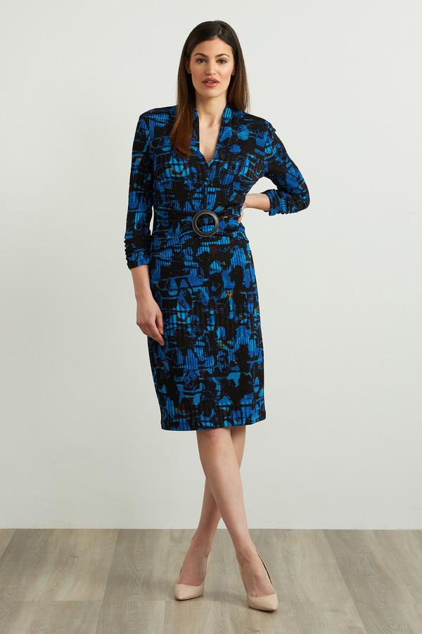 Joseph Ribkoff Belted Jacquard Dress Style 213631
