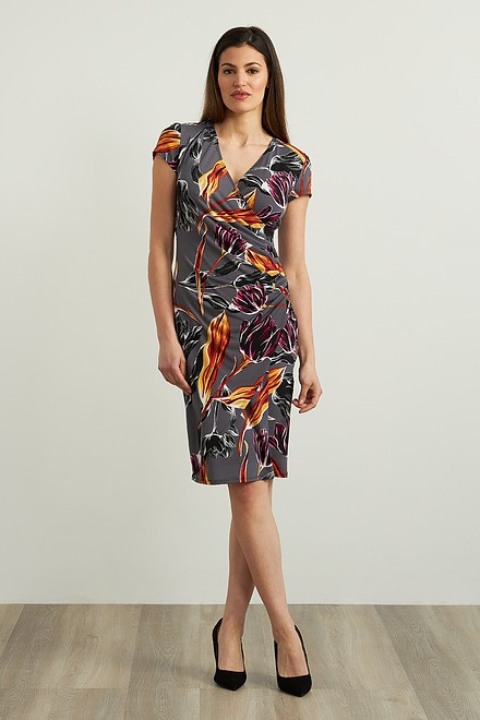 Joseph Ribkoff Floral Abstract Dress Style 213634
