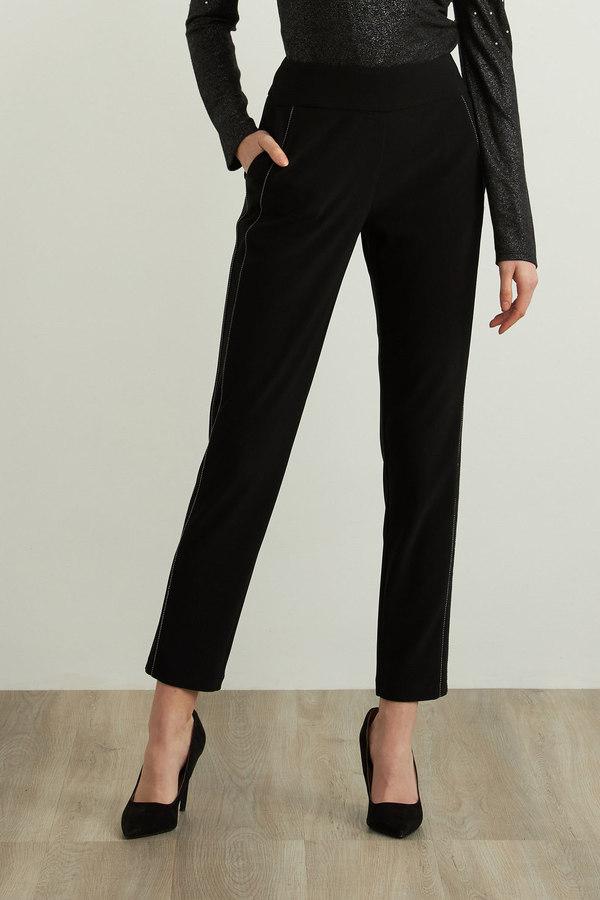 Joseph Ribkoff Slim Leg Pants Style 213640. Black