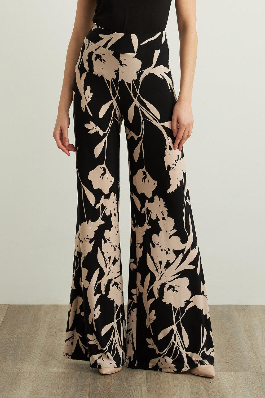 Joseph Ribkoff Black/Beige Pants Style 213642