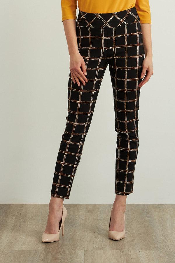 Joseph Ribkoff Checkered Print Pants Style 213643