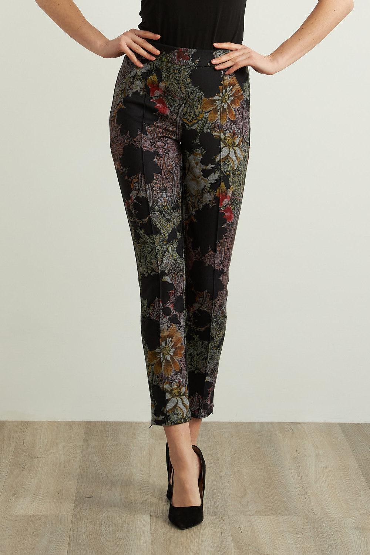 Joseph Ribkoff Floral Paisley Pants Style 213645 (black/multi)