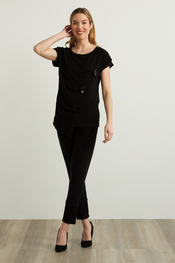 Joseph Ribkoff Slim Leg Pants Style 213653. Black