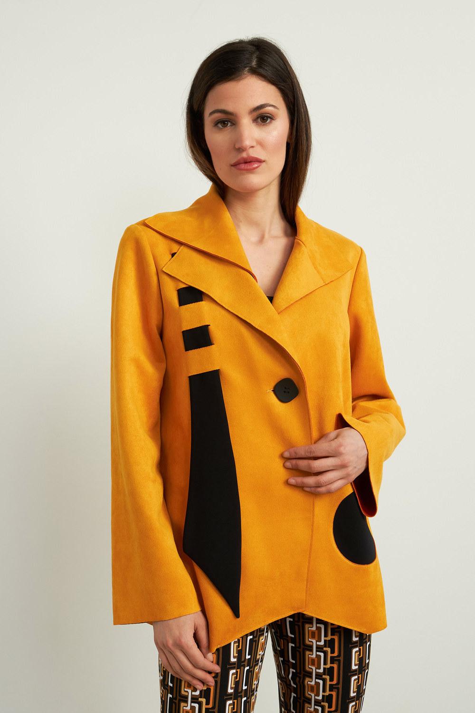 Joseph Ribkoff Marigold/black Jackets Style 213655