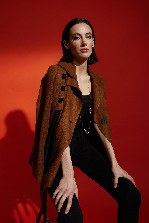 Joseph Ribkoff Vestes Brun/Noir Style 213655
