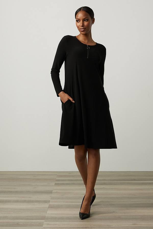 Joseph Ribkoff Fit & Flare Dress Style 213662. Black