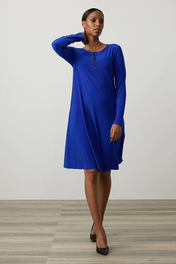 Joseph Ribkoff Fit & Flare Dress Style 213662. Royal Sapphire 163