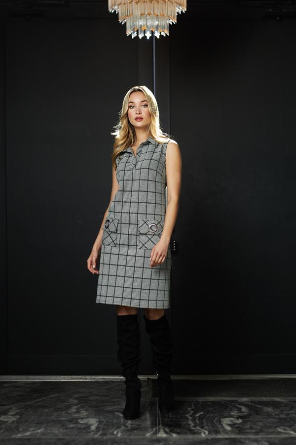 Joseph Ribkoff White/Black Dresses Style 213674
