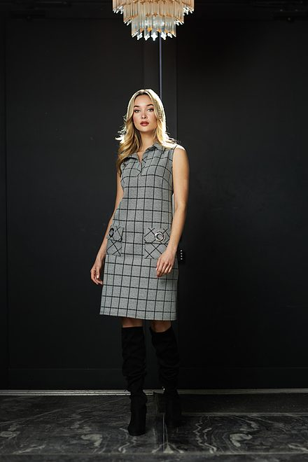 Joseph Ribkoff Check Print Dress Style 213674