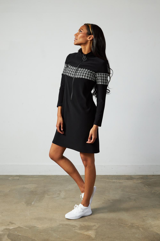 Joseph Ribkoff Black/White Dresses Style 213681