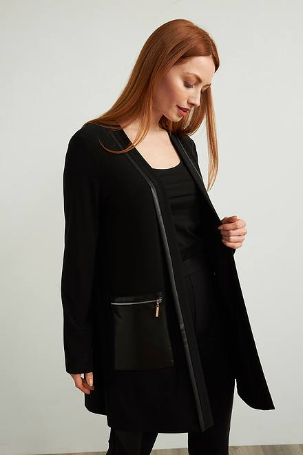 Joseph Ribkoff Leatherette Cardigan Style 213683