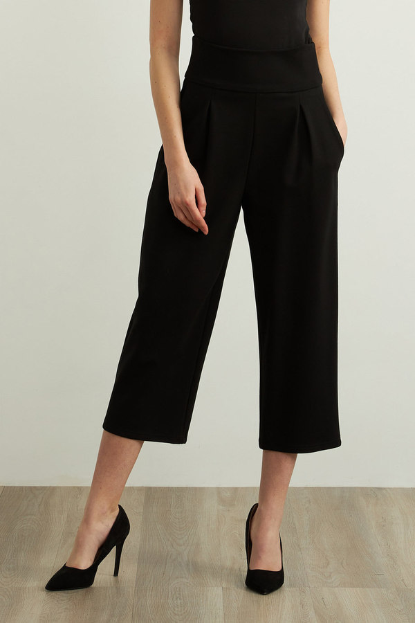 Joseph Ribkoff Wide Leg Pants Style 213684. Black