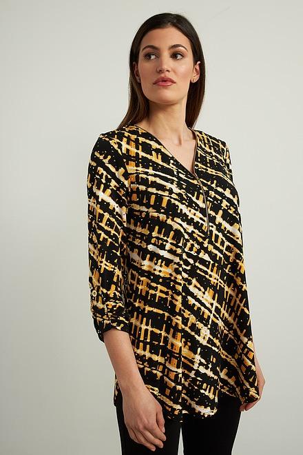 Joseph Ribkoff Black/Multi Tunics Style 213686