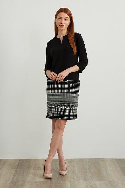 Joseph Ribkoff Jacquard Knit Dress Style 213694