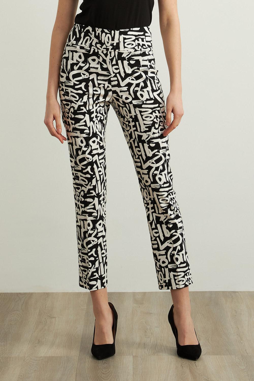 Joseph Ribkoff Pantalons Noir/Vanille Style 213696