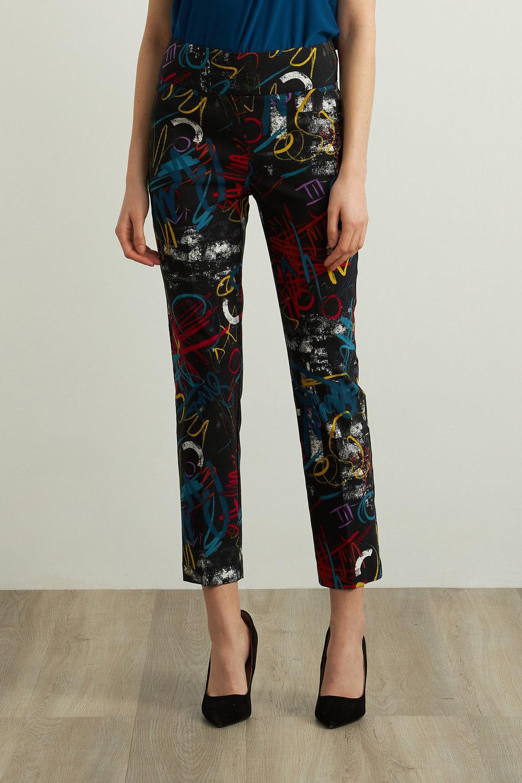 Joseph Ribkoff Black/Multi Pants Style 213696