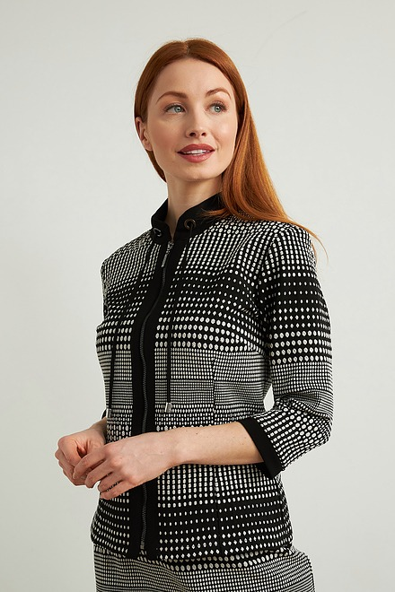 Joseph Ribkoff Jacquard Knit Blazer Style 213699