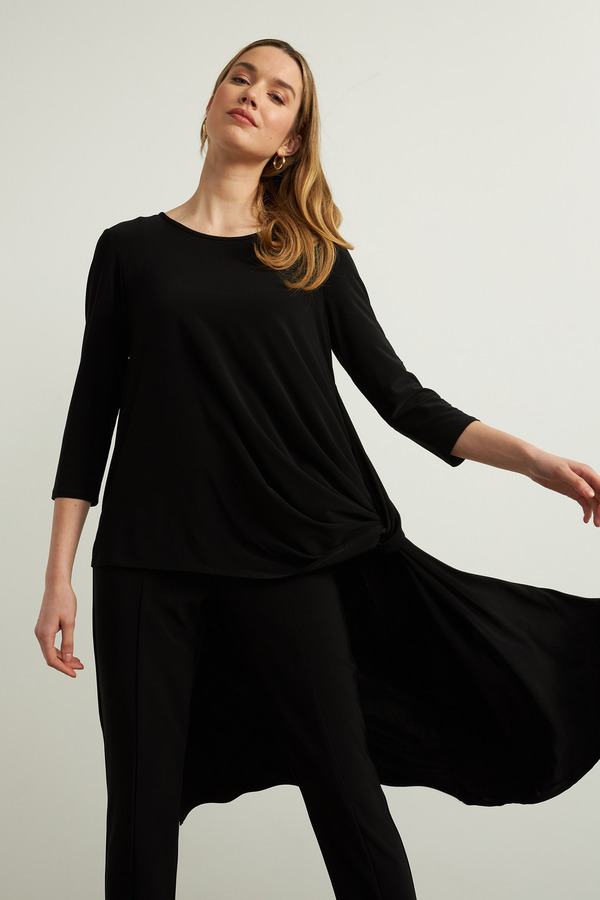 Joseph Ribkoff Asymmetric Top Style 213703. Black