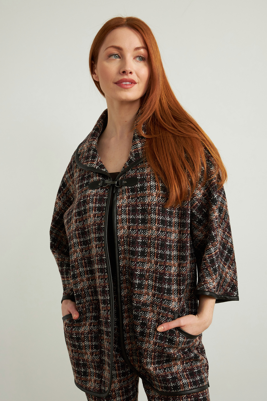 Joseph Ribkoff Black/Multi Blazers Style 213706