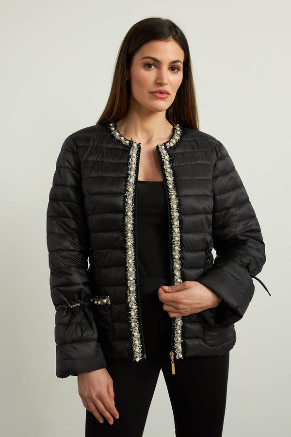 Joseph Ribkoff Black/Vanilla Outerwear Style 213909