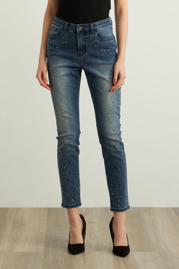 Joseph Ribkoff Stone Wash Jeans Style 213918. Denim Medium Blue