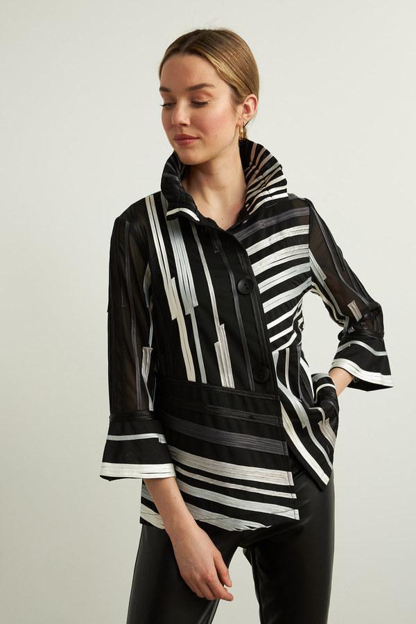 Joseph Ribkoff Blazers Black/multi/grey Style 213927