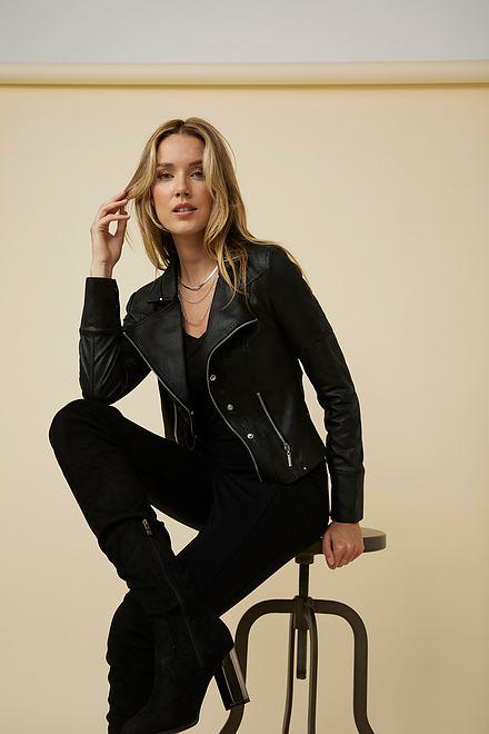 Joseph Ribkoff Faux Leather Jacket Style 213945