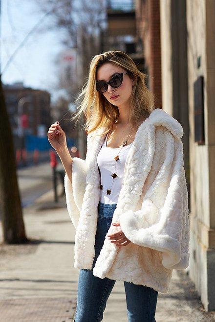 Joseph Ribkoff Faux Fur Coat Style 213954