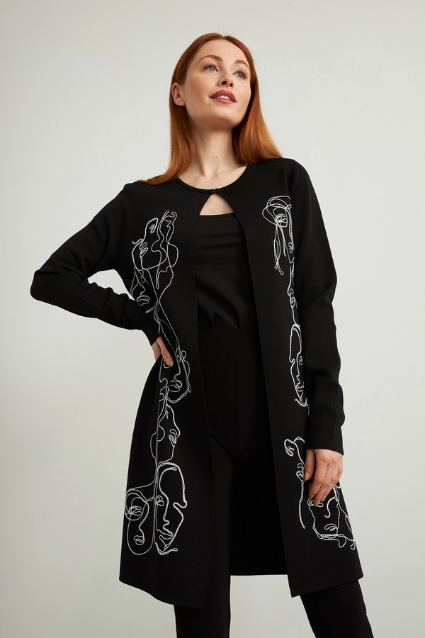 Joseph Ribkoff cardigan style 213959. Noir/Vanille