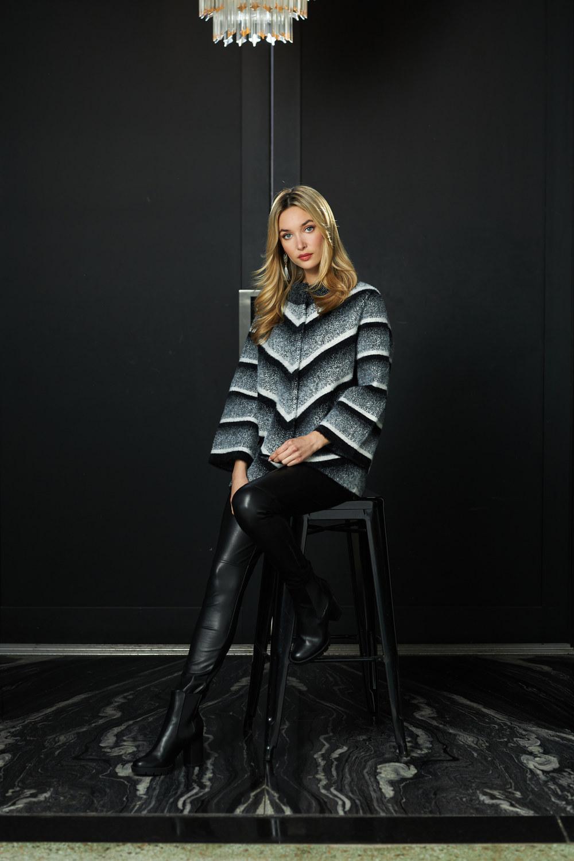 Joseph Ribkoff Black/Grey/Vanilla Jackets Style 213962