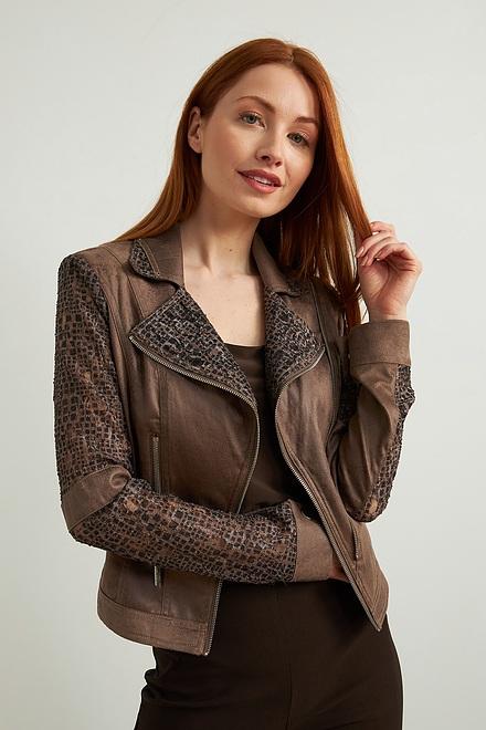 Joseph Ribkoff Suede & Lace Jacket Style 213964