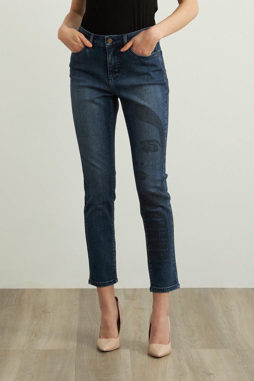 Joseph Ribkoff Jeans Bleu moyen denim Style 213973