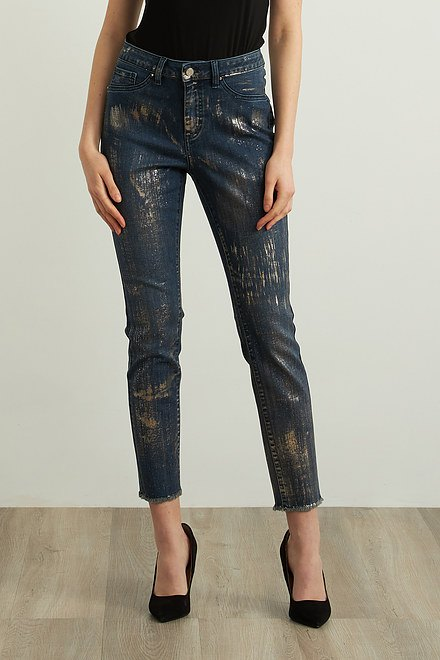 Joseph Ribkoff Foiled Jeans Style 213978
