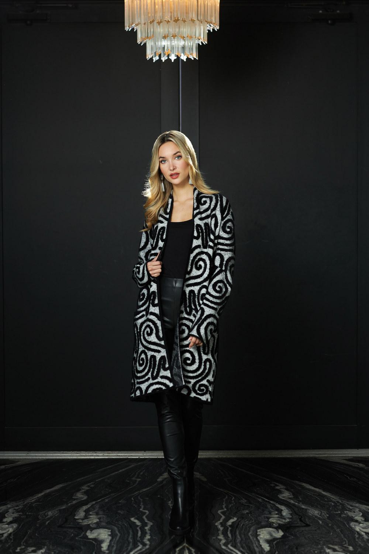 Joseph Ribkoff Grey/Black Cardigans Style 213993