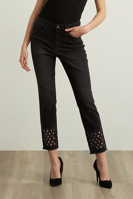 Joseph Ribkoff Cross-Hatch Cuff Pants Style 213998