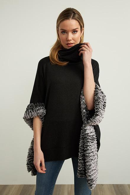 Joseph Ribkoff Fur Trim Cover-Up Style 213026