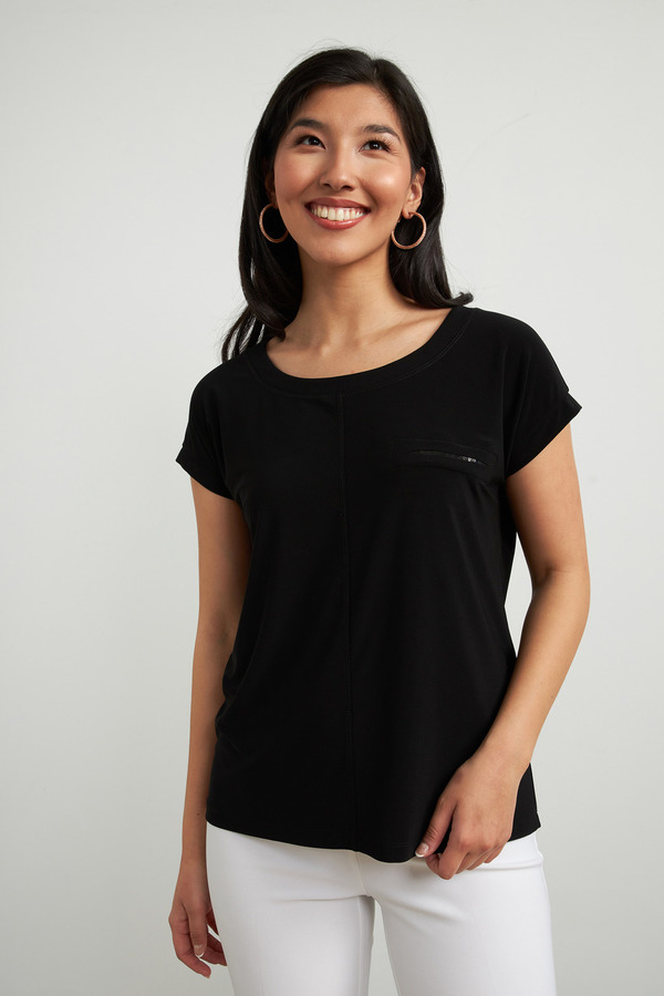 Joseph Ribkoff Black Tees & Camis Style 213403