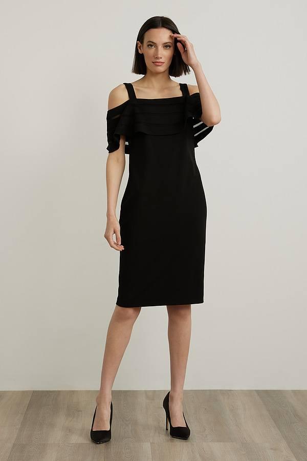 Joseph Ribkoff Off-Shoulder Dress Style 212147. Black