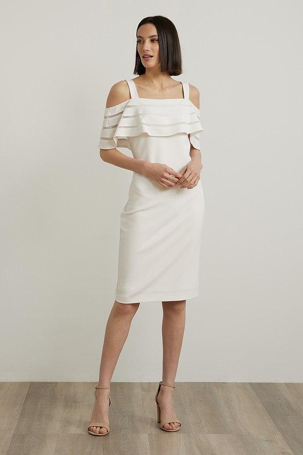 Joseph Ribkoff Off-Shoulder Dress Style 212147. Vanilla