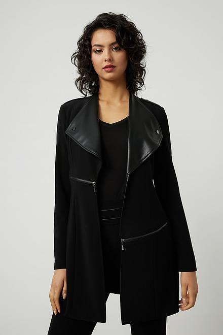 Joseph Ribkoff Faux Leather Coat Style 214096
