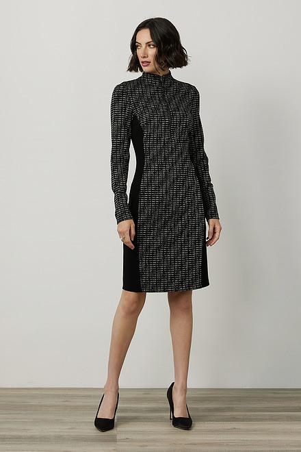 Joseph Ribkoff Metallic Jacquard Dress Style 214116