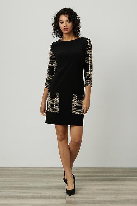 Joseph Ribkoff Printed Detail Dress Style 214136