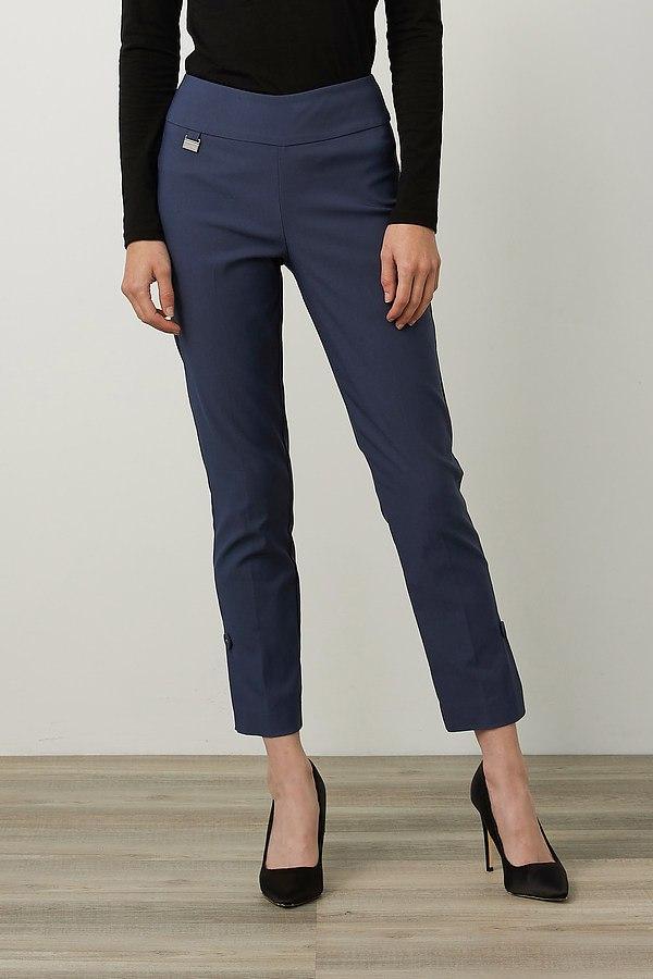 Joseph Ribkoff Slit Detail Pants Style 214139. Mineral blue