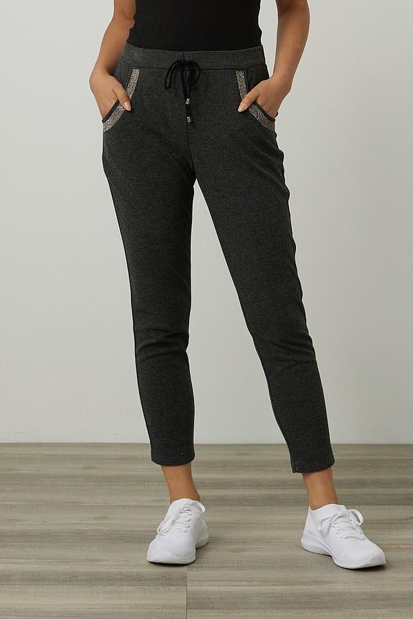 Joseph Ribkoff Rhinestone Joggers Style 214144. Charcoal/Black