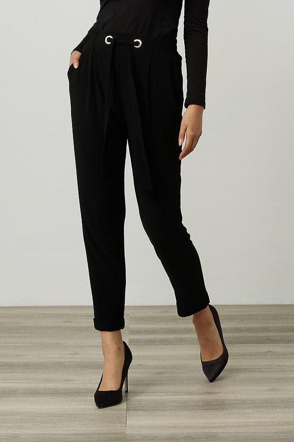 Joseph Ribkoff Belted Pants Style 214160. Black