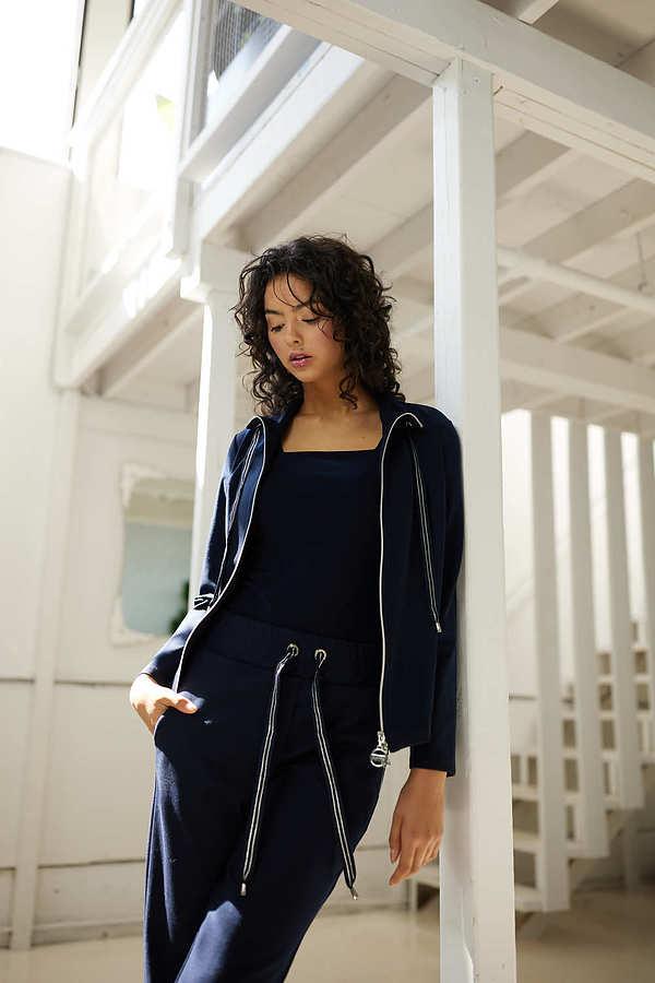 Joseph Ribkoff Zip-Up Jacket Style 214193. Midnight Blue 40