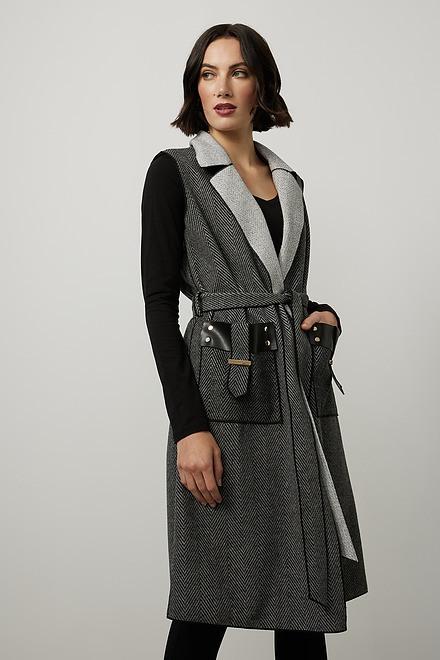 Joseph Ribkoff Knit Sleeveless Jacket Style 214195