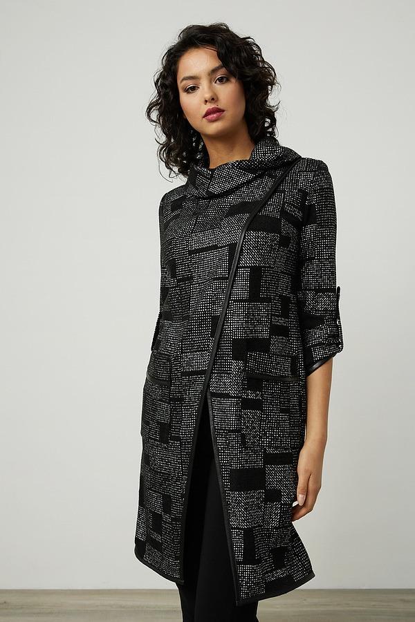 Joseph Ribkoff Wrap Front Top Style 214210. Black/Grey